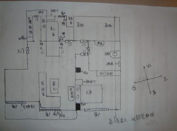 手画房子风景图片