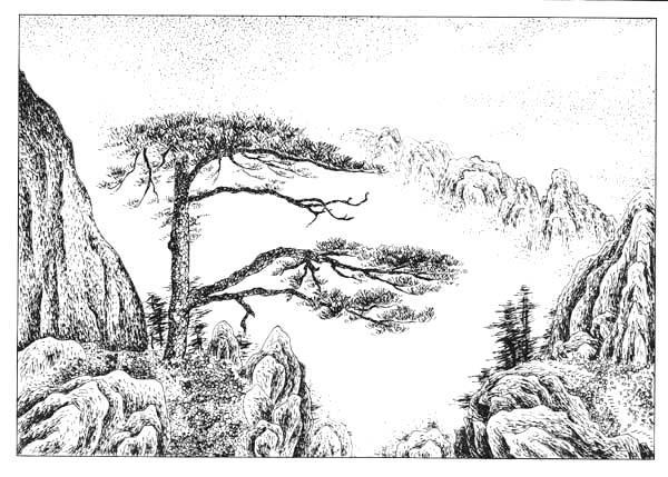 西湖写生钢笔画_风景520