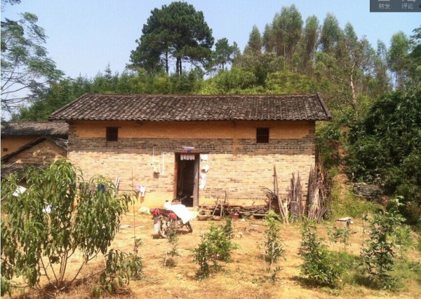 該戶房子是普通的農村建筑